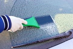 Frozen car window Royalty Free Stock Image