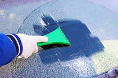 Frozen car window Royalty Free Stock Image