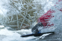 Frozen car window Stock Images