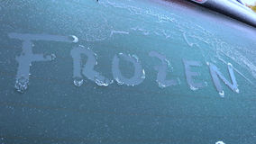 Frozen car windscreen Stock Image