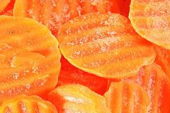 Frozen carrots backgorund Royalty Free Stock Photography