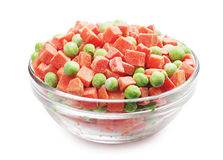Frozen carrots and peas Royalty Free Stock Image