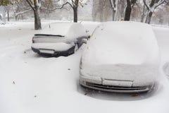 Frozen cars Stock Photos