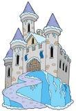 Frozen castle. On white background - illustration stock illustration