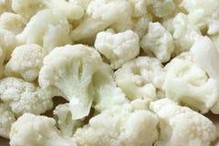Frozen cauliflower background, macro image Stock Images