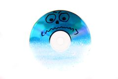 Frozen CD or DVD data Stock Photos