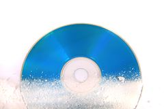 Frozen CD or DVD Royalty Free Stock Photos