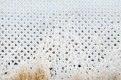 Frozen chain-link fencing Royalty Free Stock Photos