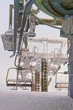 Frozen Chair lift on Kasprowy Wierch peak in Zakopane in winter Royalty Free Stock Photography