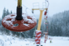Frozen chairlift Stock Image