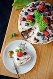 Frozen cheesecake with fresh summer berries Royalty Free Stock Photo
