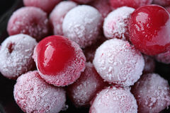 Frozen cherries Royalty Free Stock Photos