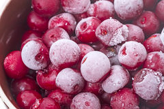 Frozen  cherries closeup Royalty Free Stock Images