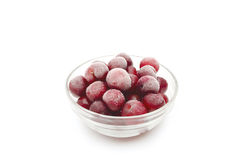 Frozen cherries Royalty Free Stock Images