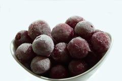 Frozen cherries fruits Stock Image