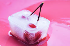 Frozen cherry. Royalty Free Stock Photos