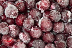 Frozen cherry fruit on a pile Royalty Free Stock Photos