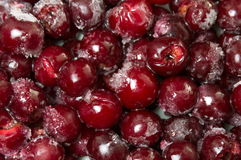 Frozen cherry fruit on a pile Stock Images