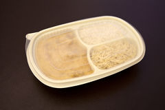 Frozen chicken stroganoff to go Stock Photo