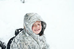 Frozen child Royalty Free Stock Image