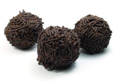 Frozen chocolate balls Royalty Free Stock Images