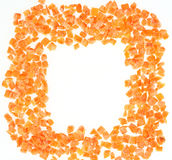 Frozen chopped carrots royalty free stock image