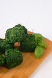 Frozen chopped spinach Stock Photography
