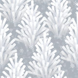 Frozen Christmas tree seamless stock illustration