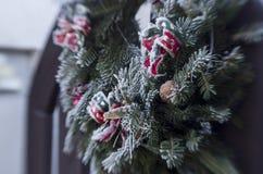 Frozen christmas wreath Stock Photos