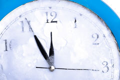 Frozen   clock Royalty Free Stock Image