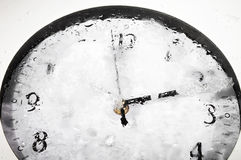 Frozen clock - RAW format Stock Images