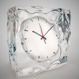 Frozen in clock, time concept Stock Images