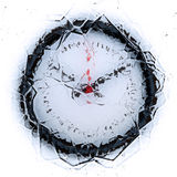 Frozen in time. Concept with ice vector illustration