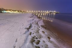 Frozen coast of Baltic Sea in Gdansk. Poland Stock Photography