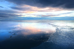 Frozen coast in Iceland Stock Photography