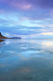 Frozen coast in Iceland Royalty Free Stock Photography