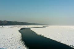 Frozen coastal sea Stock Image