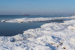 Frozen coastline Stock Photos
