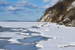 Frozen coastline of Rügen island. Scenic view of frozen coastline of Rugen island, Germany Stock Image