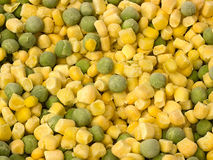Frozen corn and peas Royalty Free Stock Photography