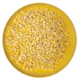 Frozen Corn in a Vibrant Yellow Bowl Royalty Free Stock Photography