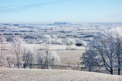 Frozen countryside Stock Image