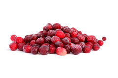 Frozen cranberry. Frozen berries isolated on white background Stock Photo