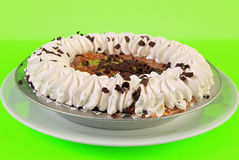 Frozen Cream Pie on Green Background Royalty Free Stock Image