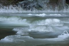 Frozen creek Stock Images