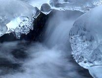 Frozen creek Stock Photography