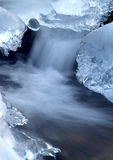 Frozen creek Royalty Free Stock Photography