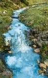 Frozen creek. In Gorbea - Euskadi Royalty Free Stock Image