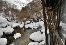 Frozen creek Royalty Free Stock Photo