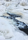 Frozen creek water Royalty Free Stock Images